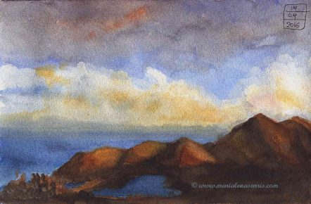 Landscape-study-1-Watercolour-Landscaepe-study-Artist-Marialena-Sarris-©-19-9-2016