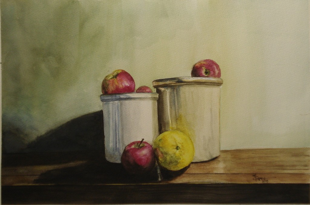 Still Life- Watercolor Painting- Marialena Sarris- 2015
