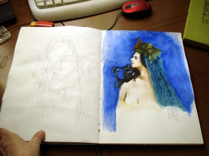 Sketches Neohart A4 Sketchbook - Artist Marialena Sarris- © 2016
