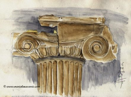 Column Watercolor Sketch -Marialena Sarris - 2015