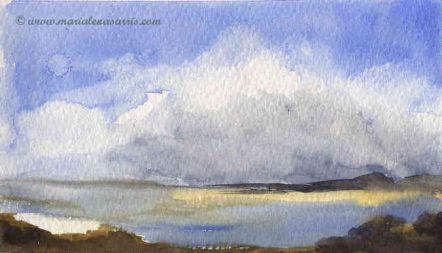 Landscape 2- Watercolour Landscape Sketch Study- Artist Marialena Sarris - © 17-1-2017