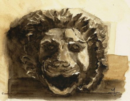 Lion Head Sketch- Marialena Sarris- 2015