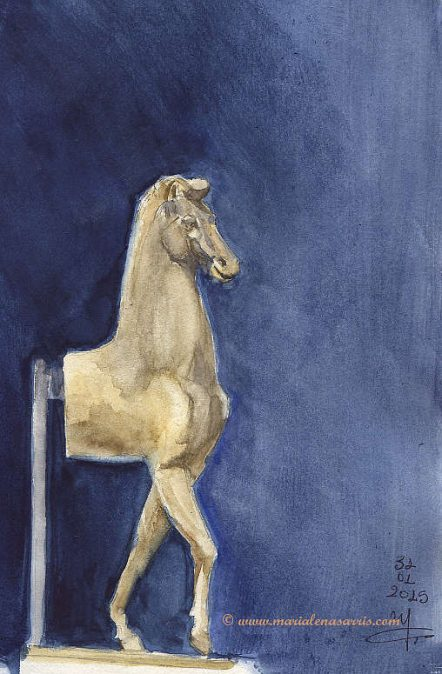 Little horse sketch- Marialena Sarris- 2015