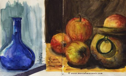 Sketchbook page- Watercolour Sketches- Artist Marialena Sarris- © 7- 2015
