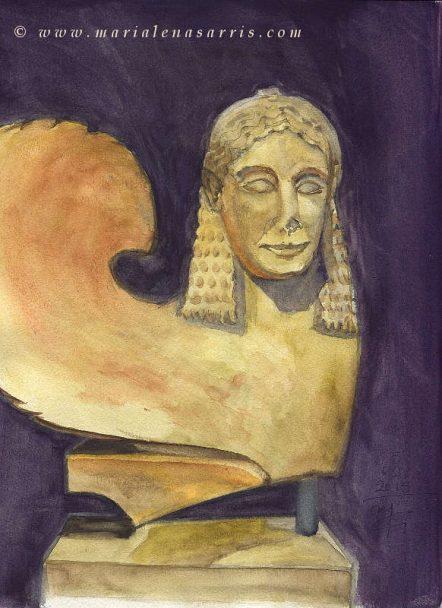 Sphinx sketch- Marialena Sarris - 2015