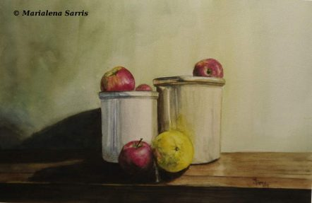 Still Life- Watercolor Painting- Marialena Sarris- 2015-1