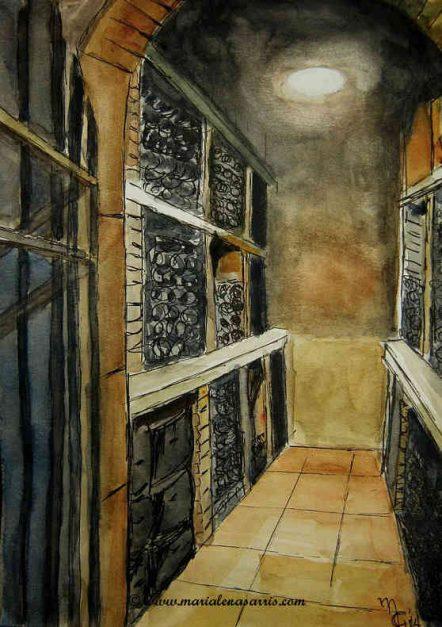 The-Celar-Watercolour Sketch- © Marialena-Sarris-2014