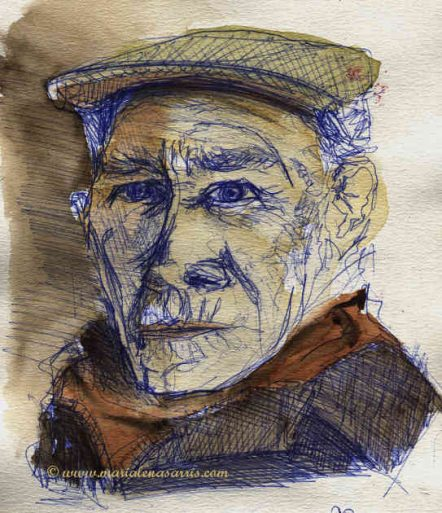 The old man's sketch- Artist Marialena Sarris- 2014