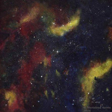 Cygnus Nebula Size 108x108 cm © Marialena Sarris