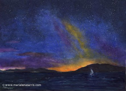 Sailing Under The Milkyway-56x76cm-©Marialena Sarris