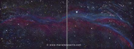 The Veil Nebula- Diptych-Total size 112x56cm-© Marialena Sarris