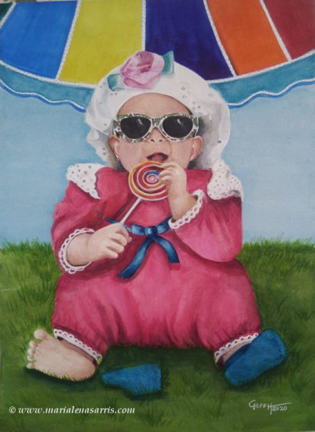 Judy's Lollipop- Portrait Commission-