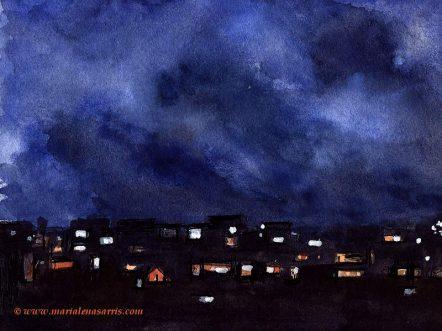 Window view at night- Marialena Sarris