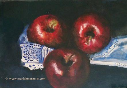 Apples Still Life Study- Marialena Sarris