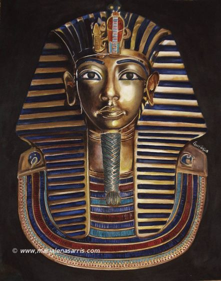 Tutankhamun mask II- © Artist Marialena Sarris