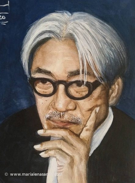 Ryuichi Sakamoto.Sketch Poorrait- Marialena Sarris